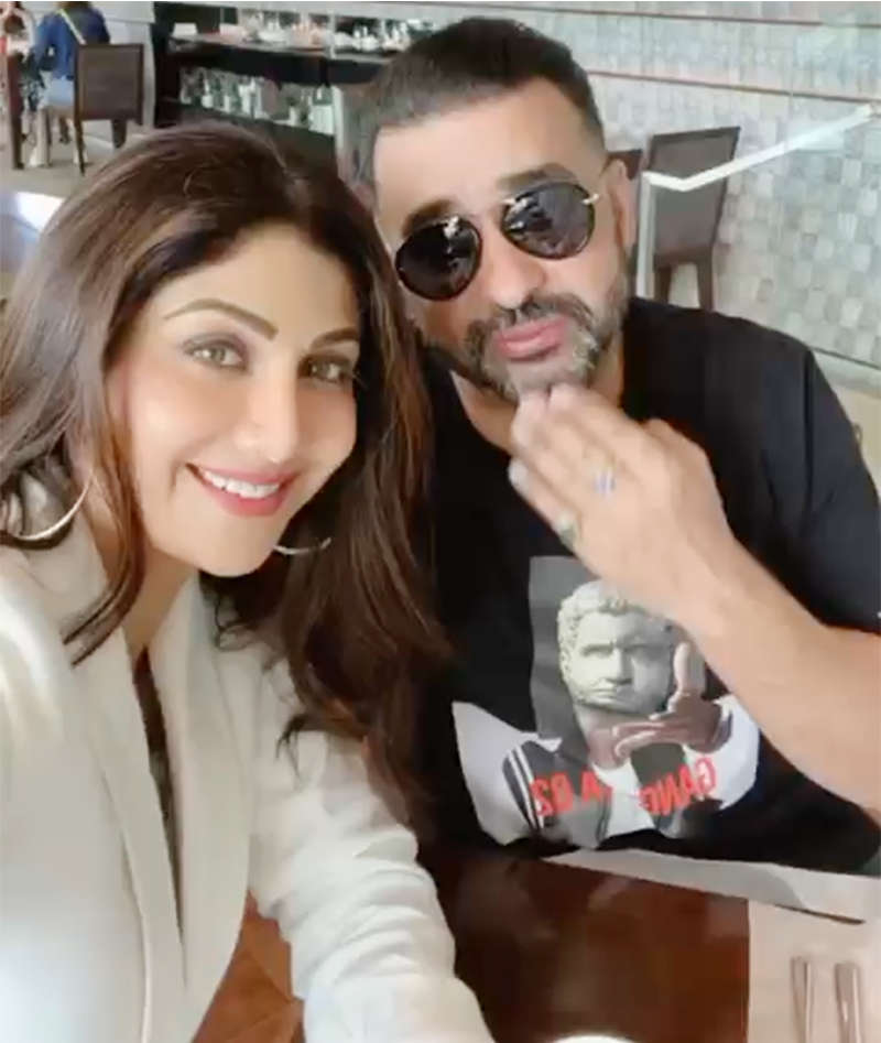 Shilpa Shetty steps out for a romantic birthday lunch date with hubby Raj Kundra