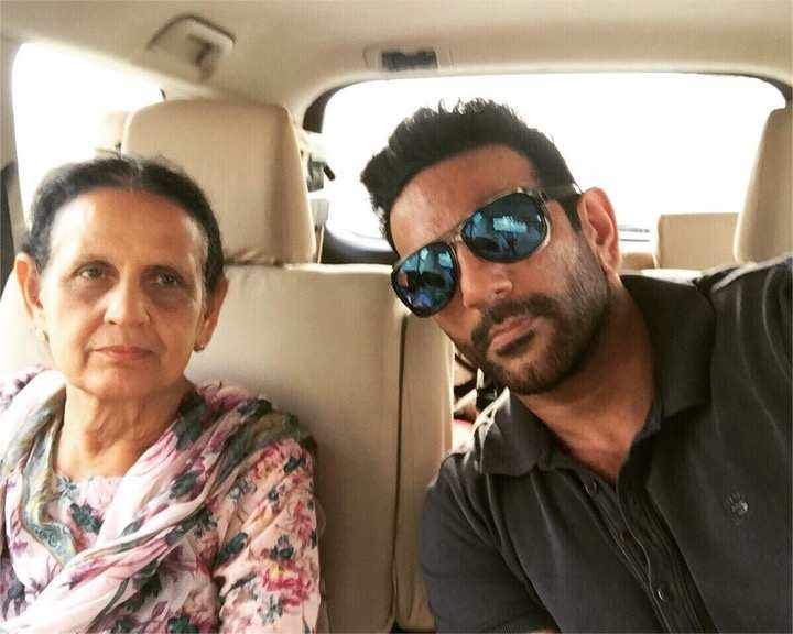 Arav Chowdhary with his mother