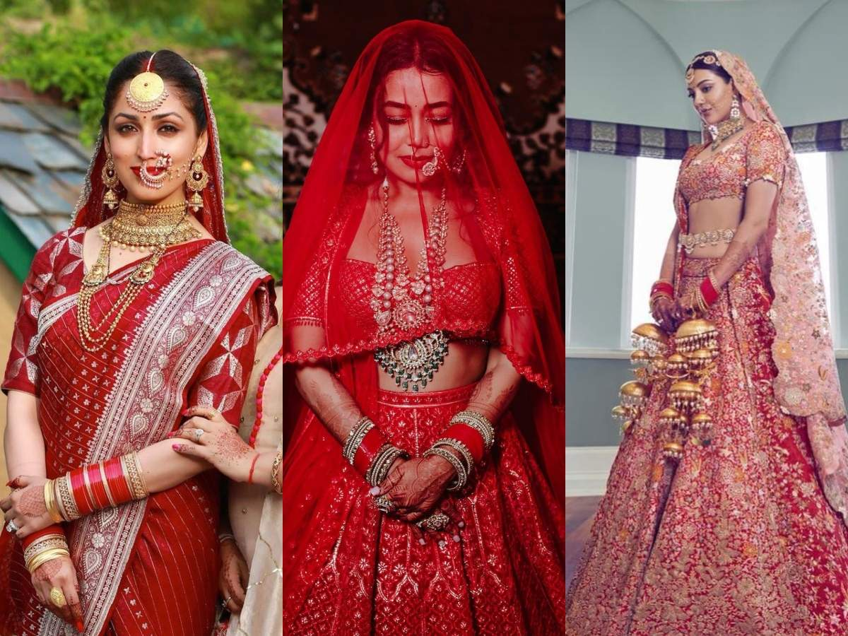 B'wood brides who opted for red attires