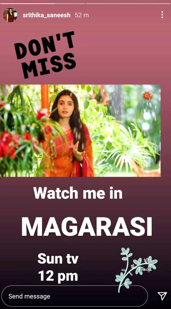 Srithika Saneesh joins the cast of 'Magarasi', replaces actress Divya Sridhar