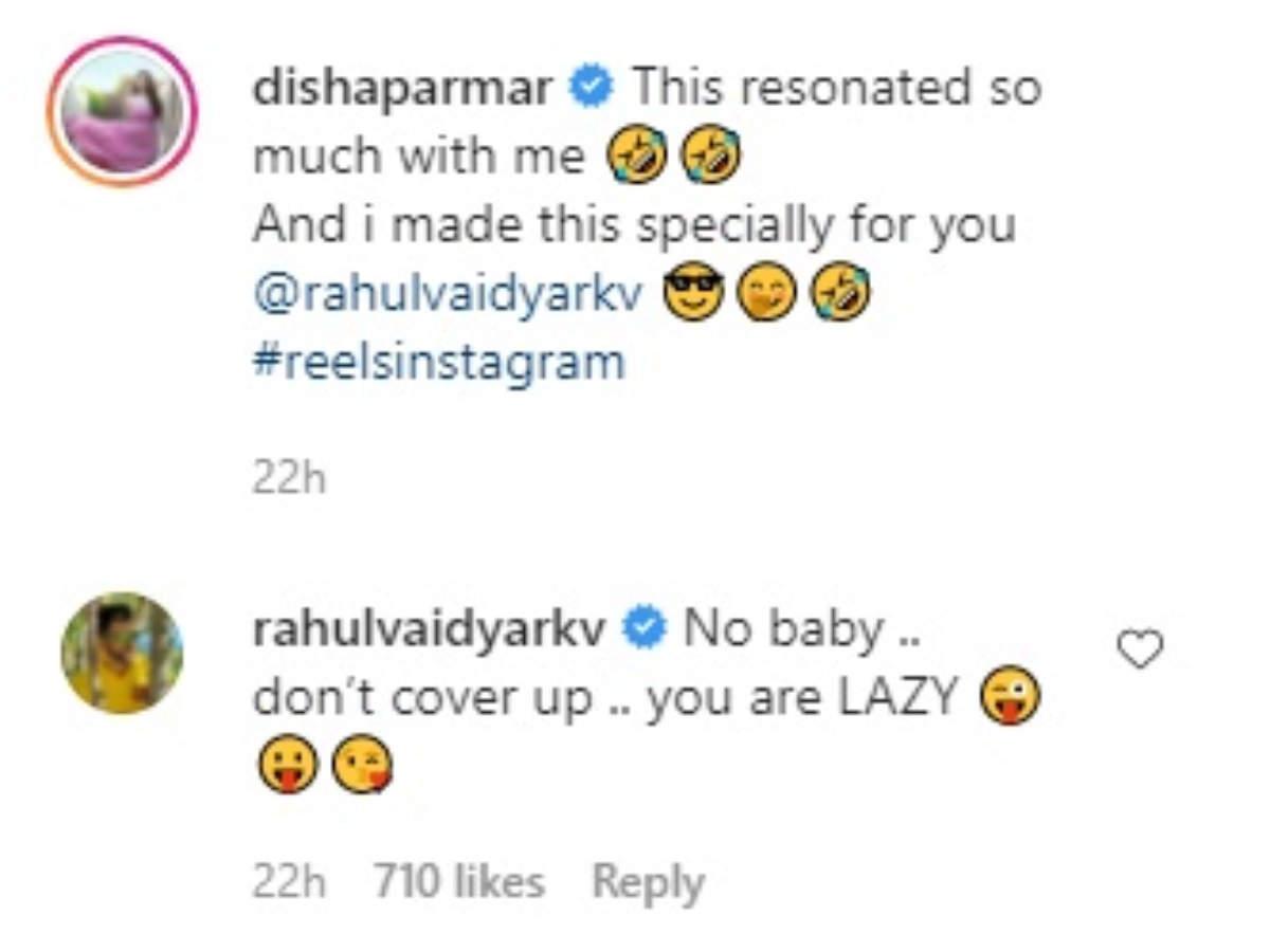 comment Disha rahul