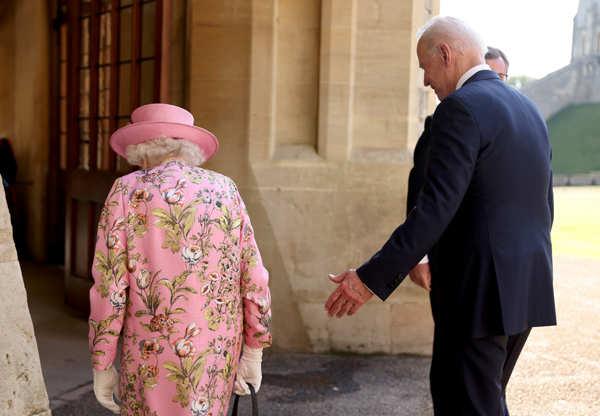 US President Joe Biden meets Queen Elizabeth