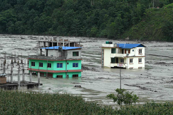 Nepal: These pictures show the devastation caused by flash floods