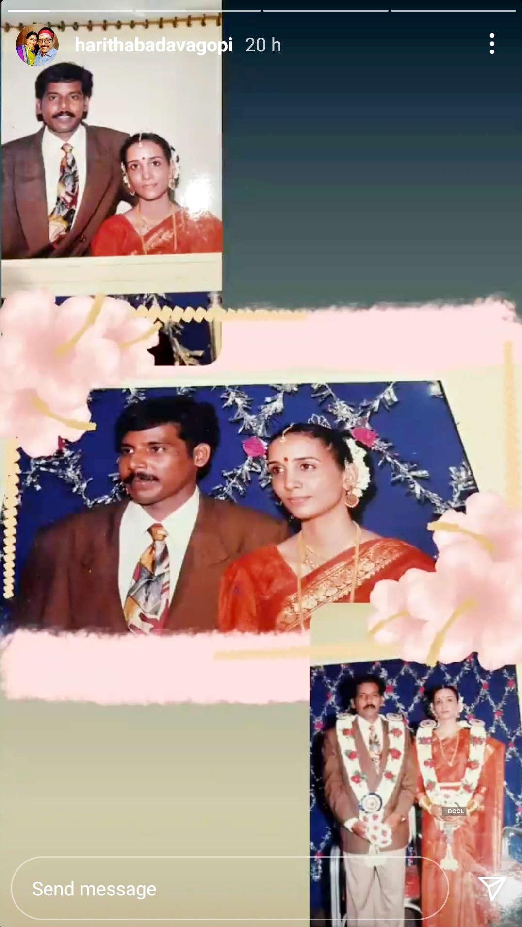 Badava Gopi and Haritha celebrated their 25th wedding anniversary