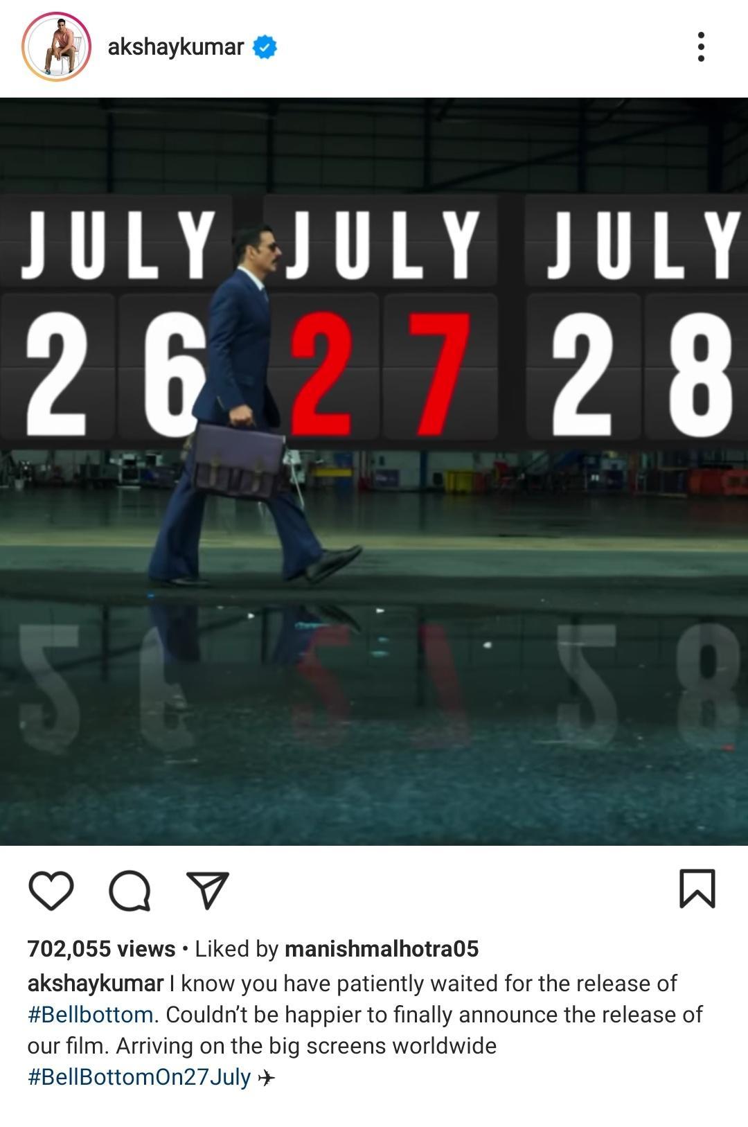 Akshay Kumar Instagram