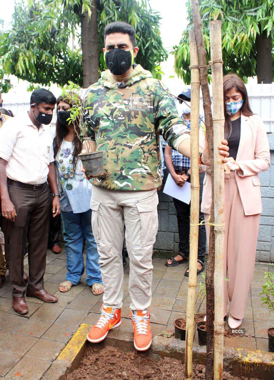 Abhishek Bachchan participates in a tree adoption campaign