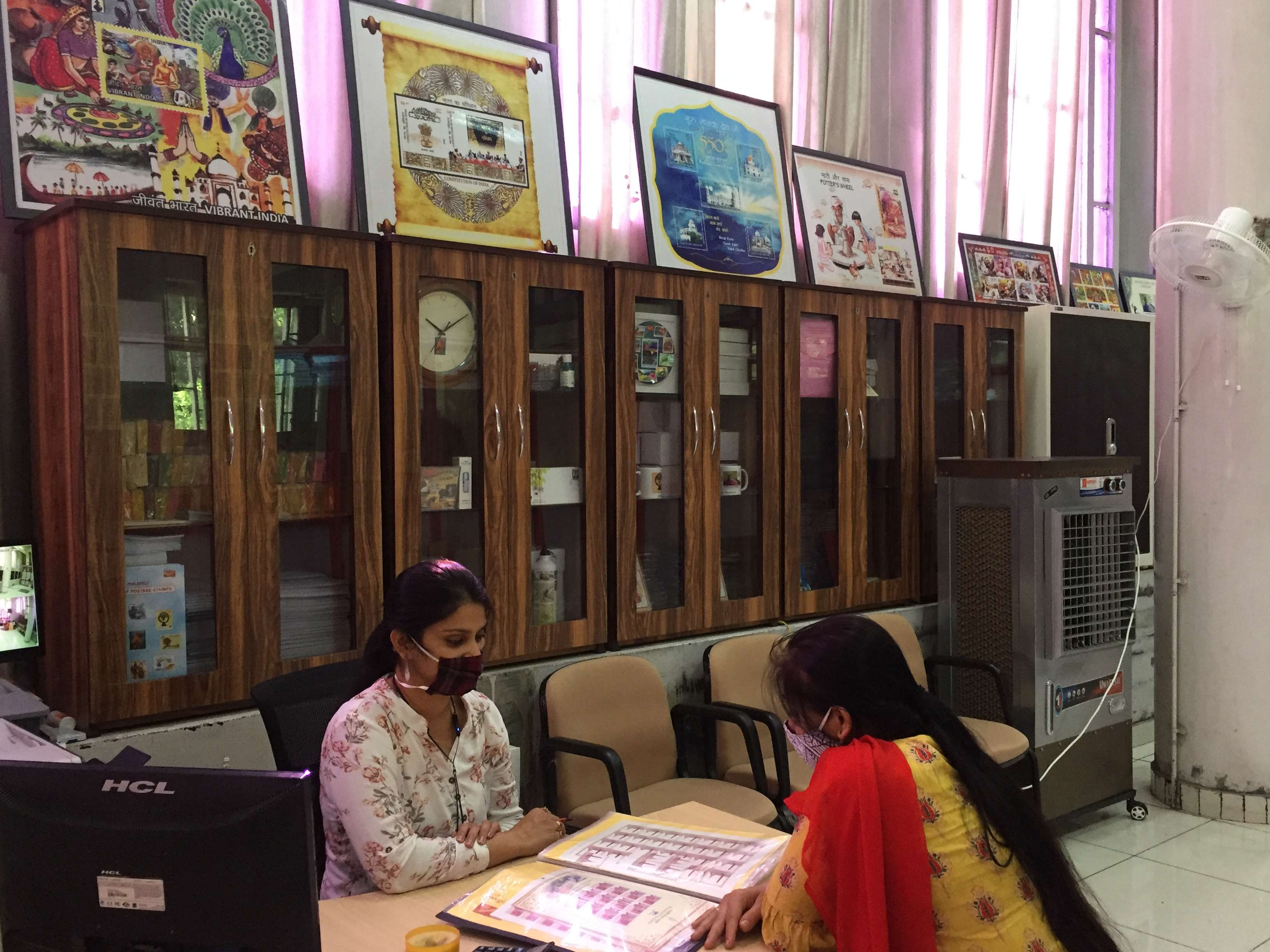 The philatelic bureau is at the GPO, Sector 17
