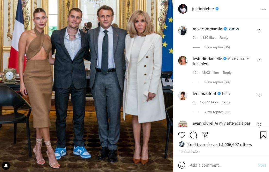 Justin Bieber posts a picture of meet with President