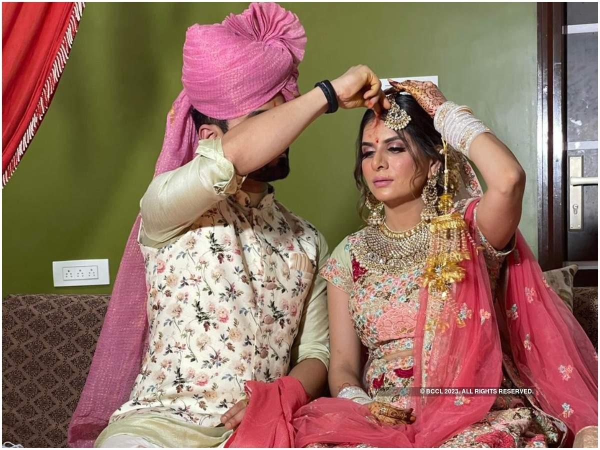 Isha and Vasdev at their wedding