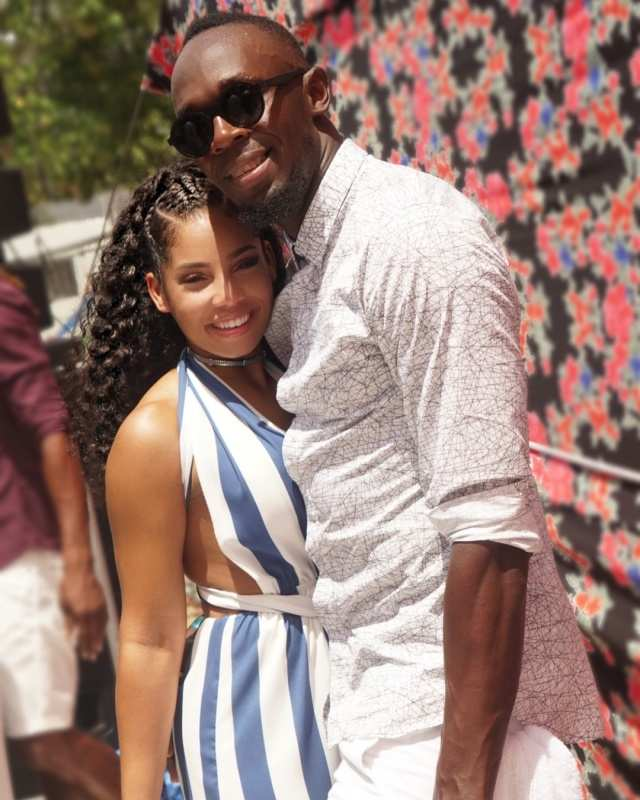 Romantic photos of Usain Bolt with his ladylove Kasi Bennett