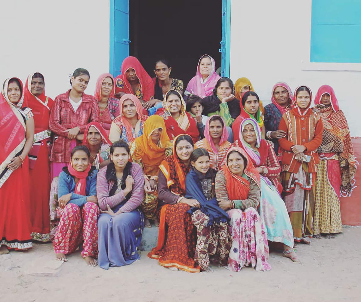 Women in the village of Rajasthan revive traditional embroidery techniques