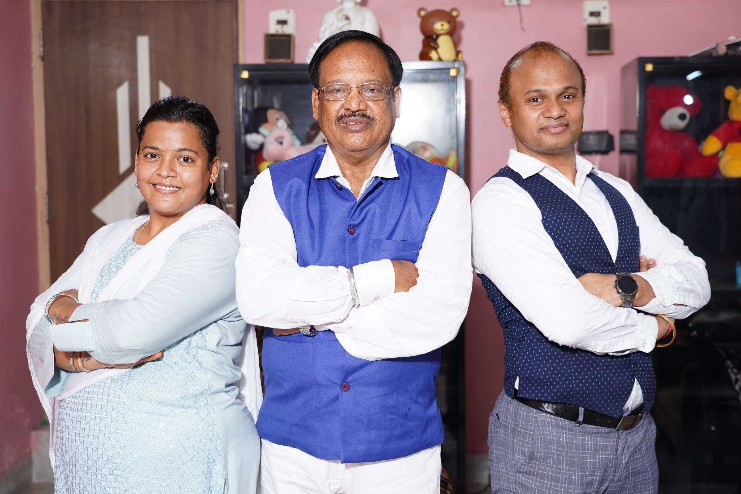 (L2R) Rashmi Sahoo, Sarat Kumar Sahoo, Arbind Sahoo