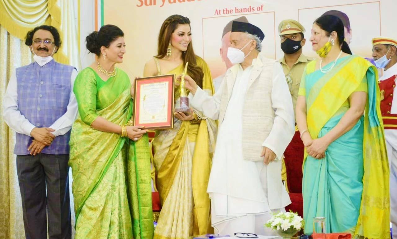 Urvashi Rautela's Proud Moment As She Receives 'Stree Sakhti National Award'