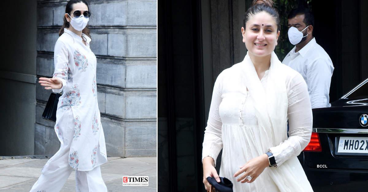 Kareena Kapoor Khan, Riddhima, Karisma Kapoor and others step out to attend Randhir Kapoor's housewarming