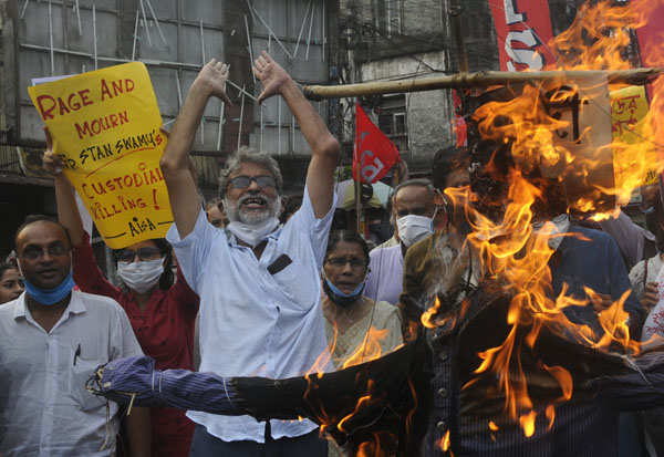 These pictures show massive outrage over death of jailed activist Stan Swamy
