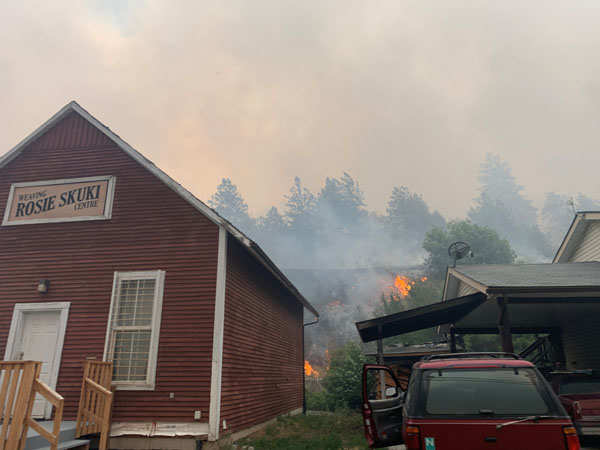 Wildfire destroys British Columbia town