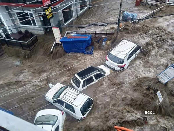 These pictures show how flash floods wreaked havoc in Himachal