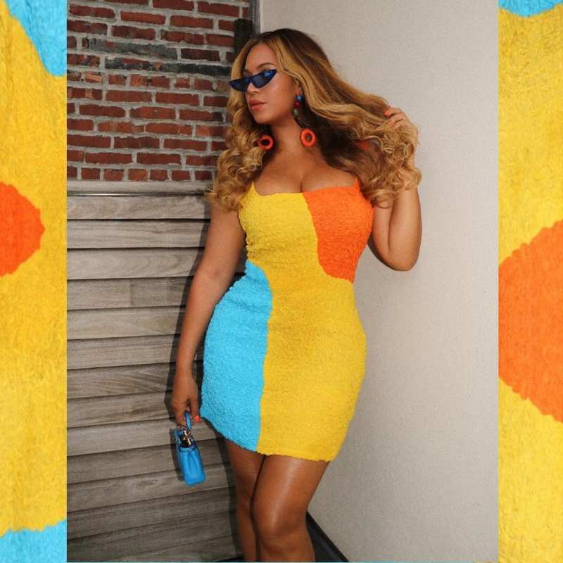 Beyonce's taste for bright coloured outfits