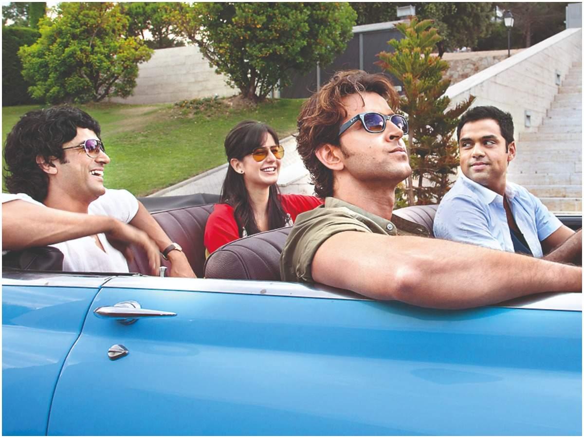Farhan Akhtar, Katrina Kaif, Abhay Deol and Hrithik Roshan in the movie