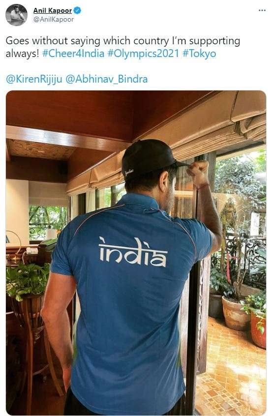 Anil Kapoor tweets on India's Olympics contingent