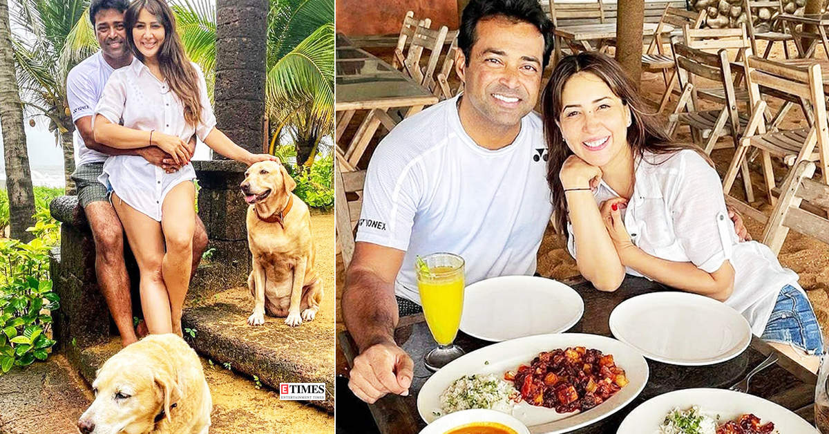 New loved-up pictures of Kim Sharma and Leander Paes from their Goa vacation spark dating rumours