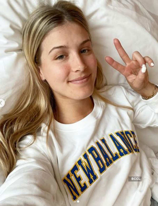 Tennis player Eugenie Bouchard is teasing the cyberspace