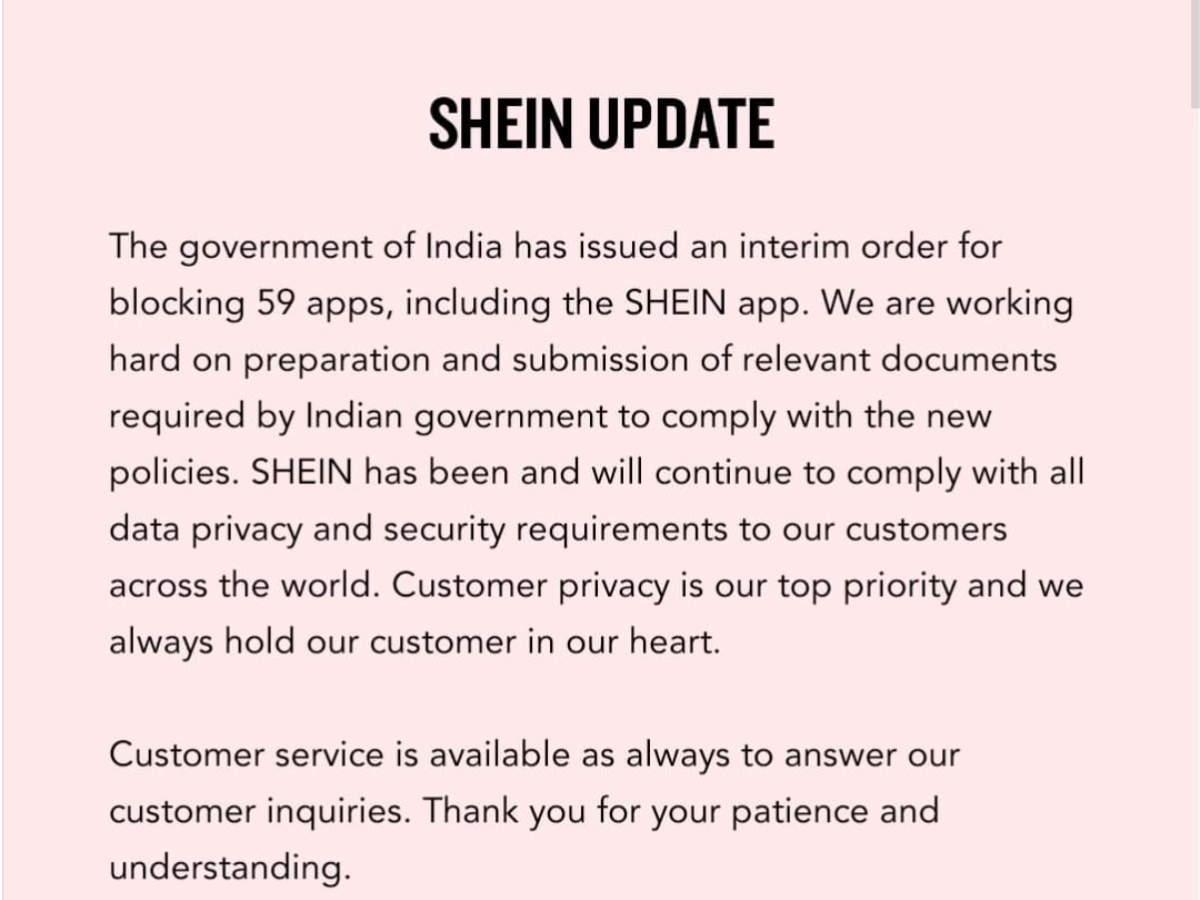 Shein being banned