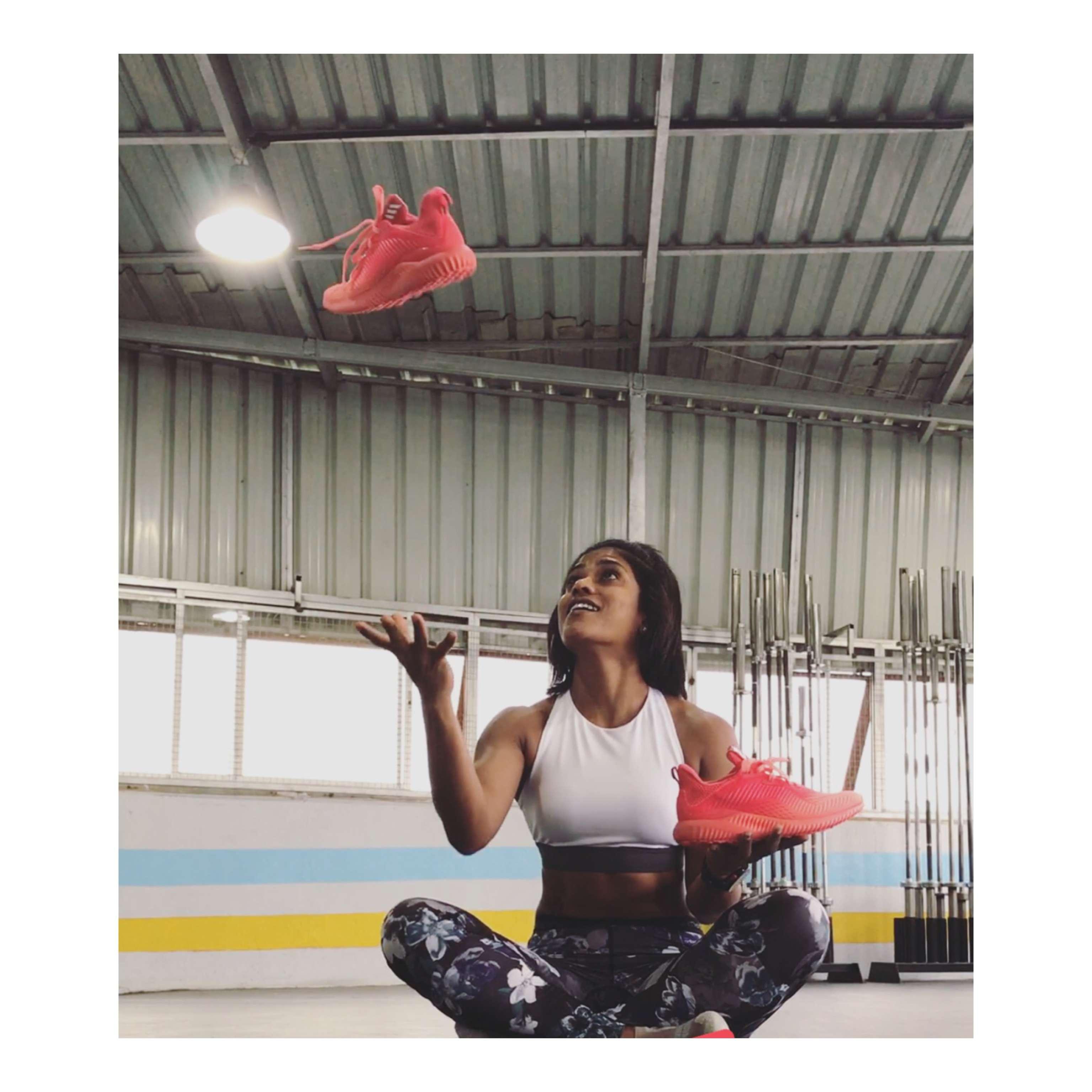 Swetha Devaraj in high performance shoes for training - 3
