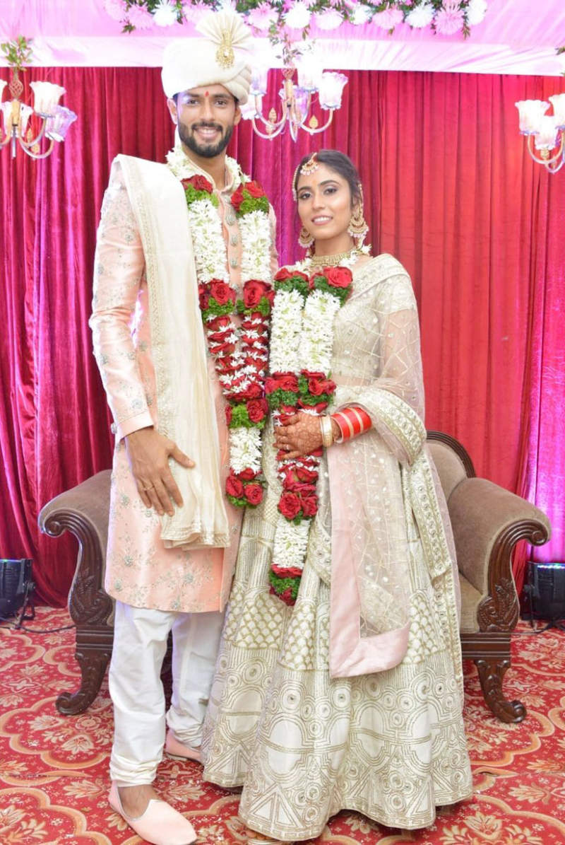 Indian cricketer Shivam Dube ties the knot with girlfriend Anjum Khan