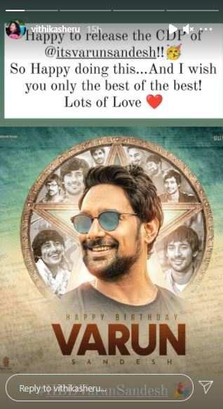 Vithika releases Varun's CDP