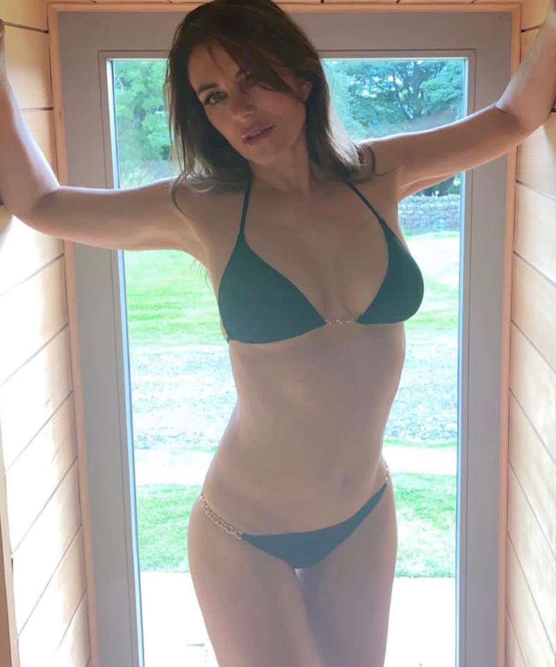 Alluring pictures of Elizabeth Hurley are sweeping the internet