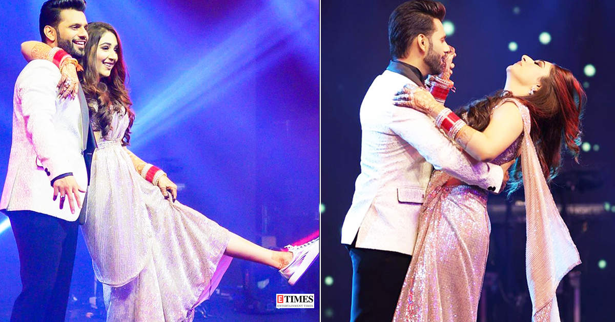 Rahul Vaidya and Disha Parmar burn the dance floor in these unseen pictures from their wedding reception