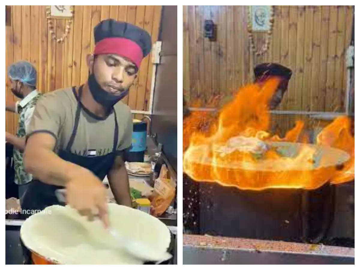This innovative Fire Dosa of Indore is a treat to the eyes