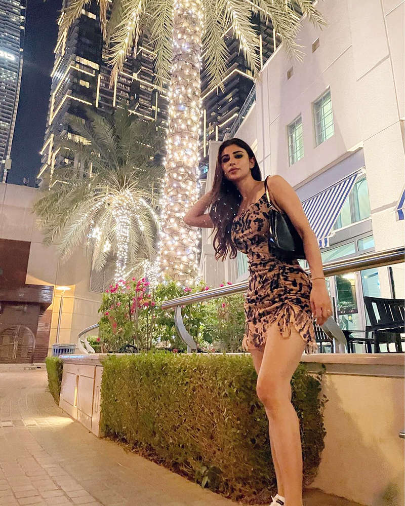 Mouni Roy stuns in a short bodycon dress in these unseen vacation pictures