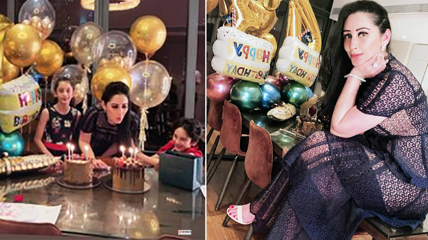 Lovely pictures from Maanayata's birthday celebration with kids go viral