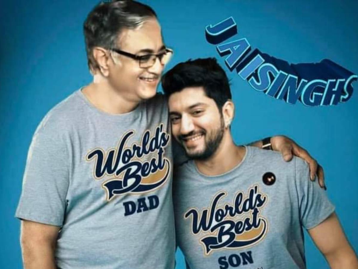 Kunal Jaisingh with his dad