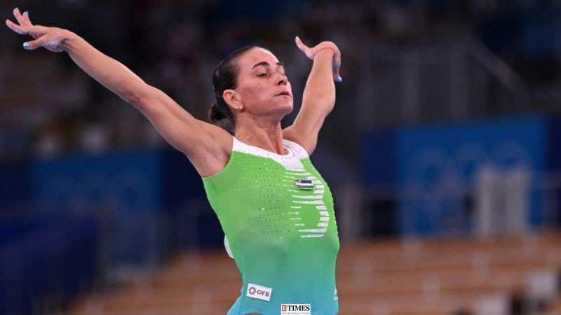 Oksana Chusovitina at Tokyo Olympics 2020: Tears and standing ovation,  ageless gymnast's final moments at the Games   Photogallery - ETimes