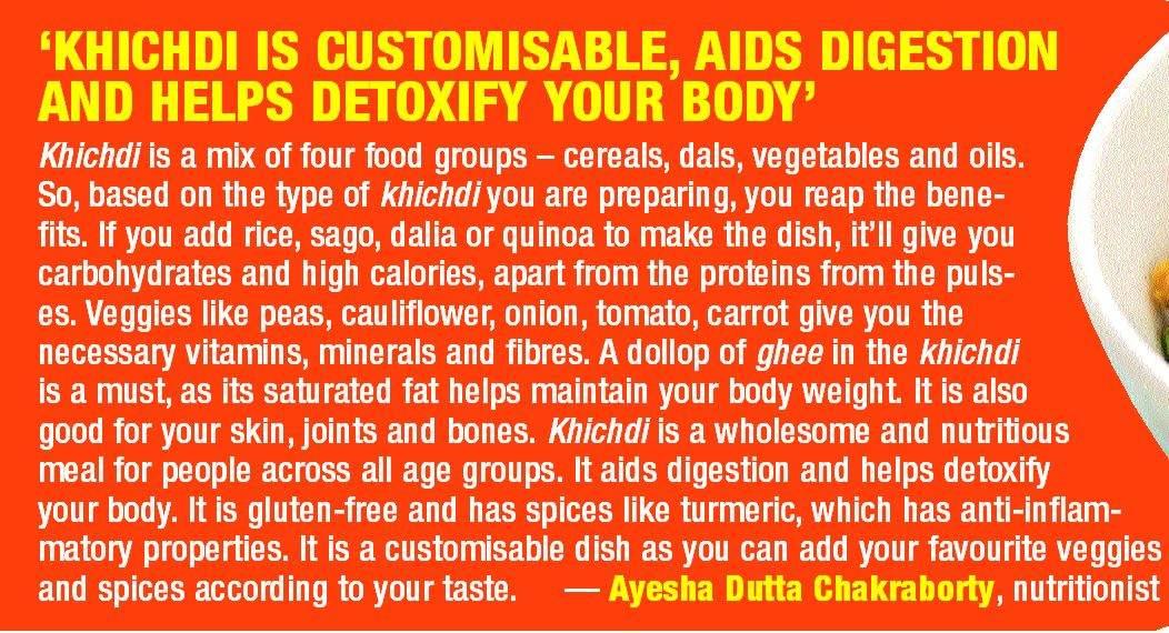 Khichi quote nutritionist