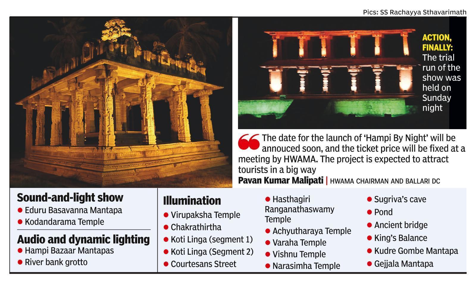 Hampi by Night to take visitors down history lane