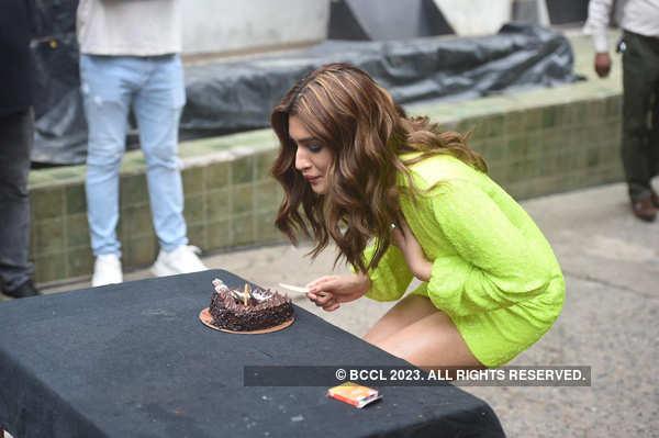 In pics: Kriti Sanon cuts her birthday cake