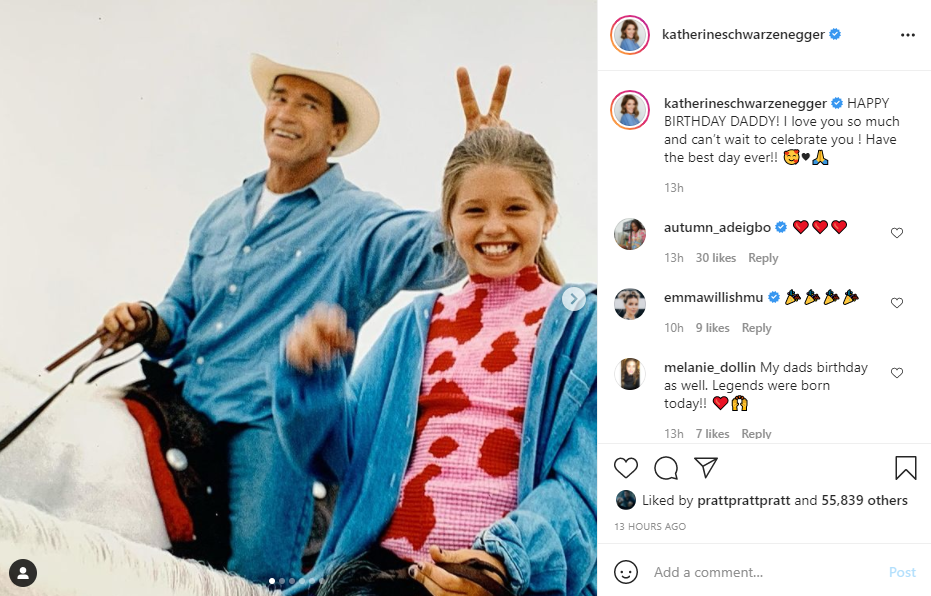 Katherine Schwarzenegger shared a wish for her father