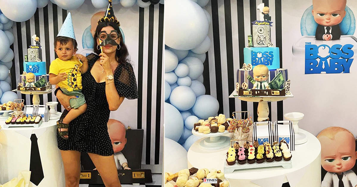 Lovely pictures from first birthday celebration of Hardik Pandya and Natasa Stankovic's little son