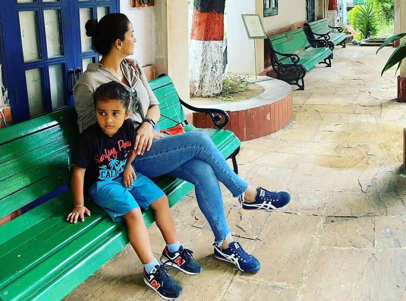 Gul Panag's day out with son Nihal