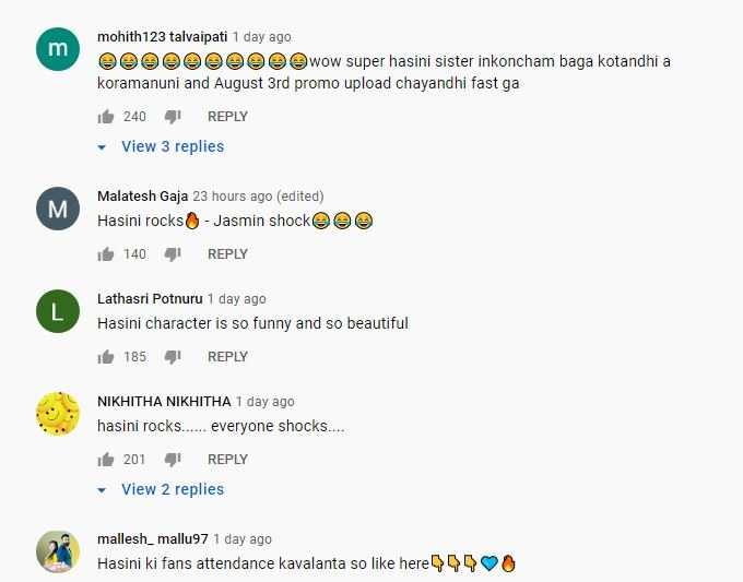 Netizens on Trinayani