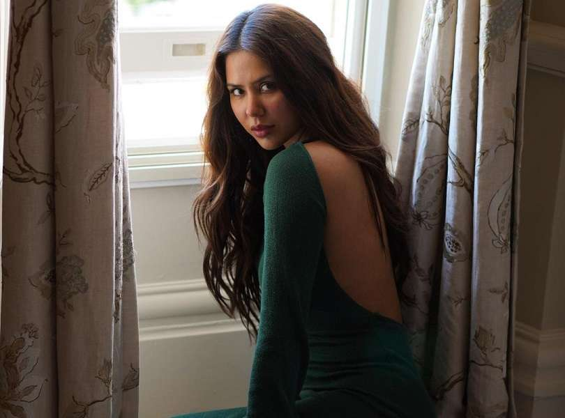Sonam Bajwa turns up the heat with a dark green backless dress