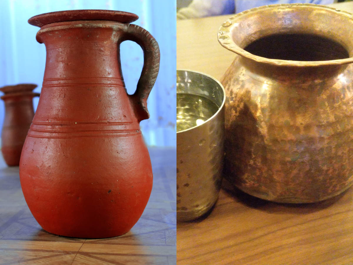 Ayurveda-recommended way to store water