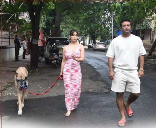 Kim Sharma and Leander Paes