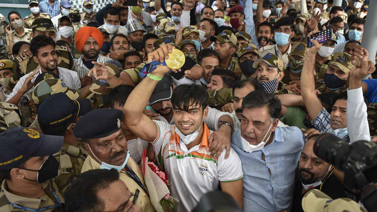 In Pics: India's Olympic medallists receive a hero's welcome    The Times of India