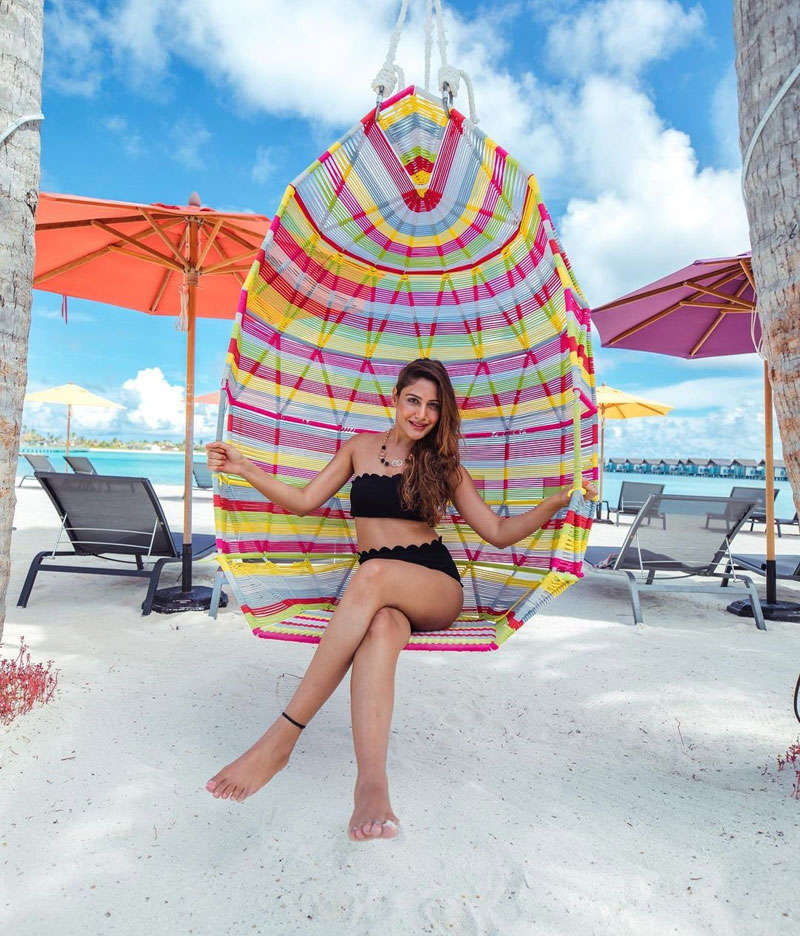 Surbhi Chandna sets hearts racing with her Maldives vacation pictures