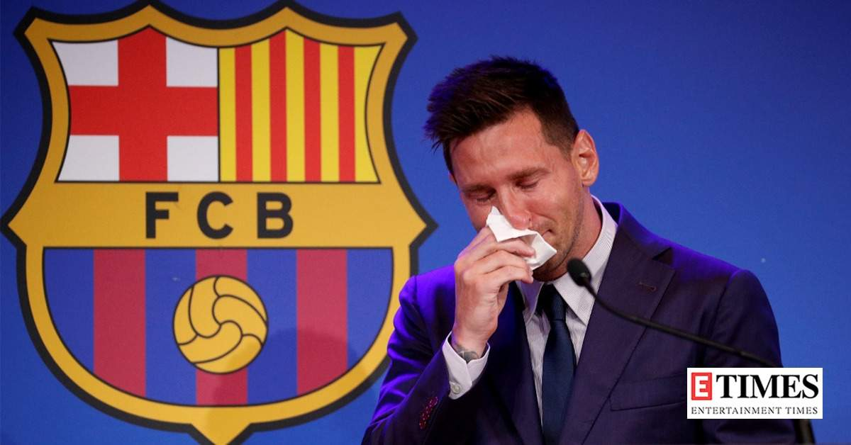 Teary-eyed Lionel Messi bids farewell to FC Barcelona, these photos of the football legend will break your heart